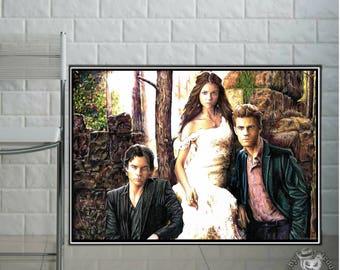 Vampire Diaries - Fine Art Print - A4/A3