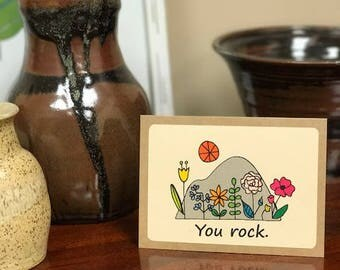 You Rock Note Card