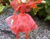"Fae Folk® Fairies - WINDY - Stardust Fairy. Bendable, posable 5"" soft doll can sit, stand, or hang."