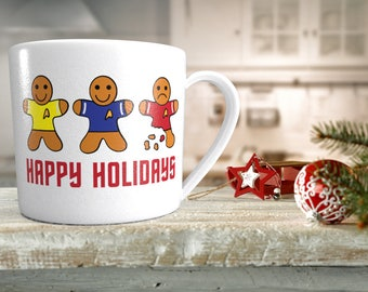 Happy Holidays Digital File: SVG, DXF, eps - Gingerbread - Star Trek - The Red shirt is in crumbles - scrapbooking, on a mug, t-shirt