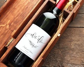 Wedding Wine Labels, Wine Bottle Labels, Wedding Wine Printable, We Do Wine Labels, Calligraphy, #A045, INSTANT DOWNLOAD, Editable PDF