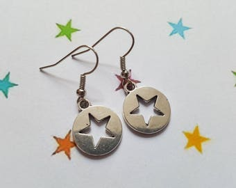 Star earrings, Stars earrings, Dangle earrings, Stars, Star, Fantasy jewellery, Fantasy, Stellar, Stellar jewellery, Celestial, Zodiac