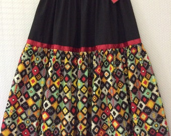 Native American Regalia *Nakoda Made* Ladies POW WOW Ribbon Skirt