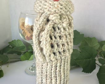 Crochet Wine Bottle Cover, Crochet Cozy, Crochet Koozie, Champagne Cozy, Wine Gift, Wine Bag Gift, Wine Bottle Cover, Cozy Bottle