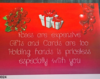 Holding Hands - Funny Valentine Card