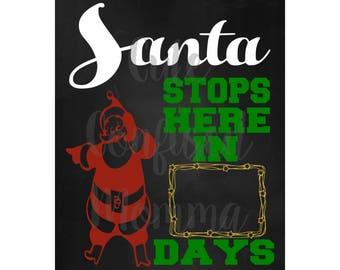 Christmas Countdown-SVG-Christmas Svg-Santa Svg-Days Until Christmas Svg-Winter Svg-Merry Christmas Svg-Christmas Cut File-Instant Download
