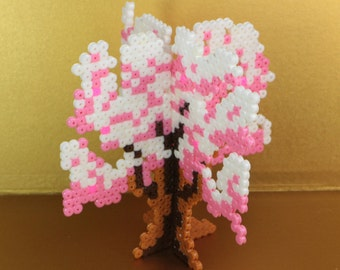 Spring Haru Japanese Sakura Cherry Blossom 4 Seasons Hama Beads Made to Order Extra Kawaii 3D Fuse Beads Sakura Blooming