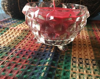 8 oz. Holly Berry Soy Candle in a Cut Crystal Container
