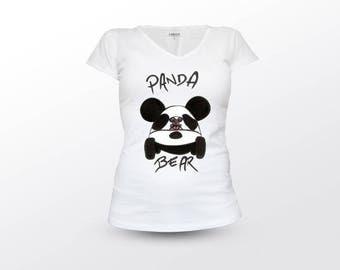 Panda Bear Shirt, Panda Shirt, Bear Shirt, Panda T Shirt, Bear T Shirt, Funny Animal Shirt, Cute Animal Shirt, Woman Shirt, Woman T Shirt