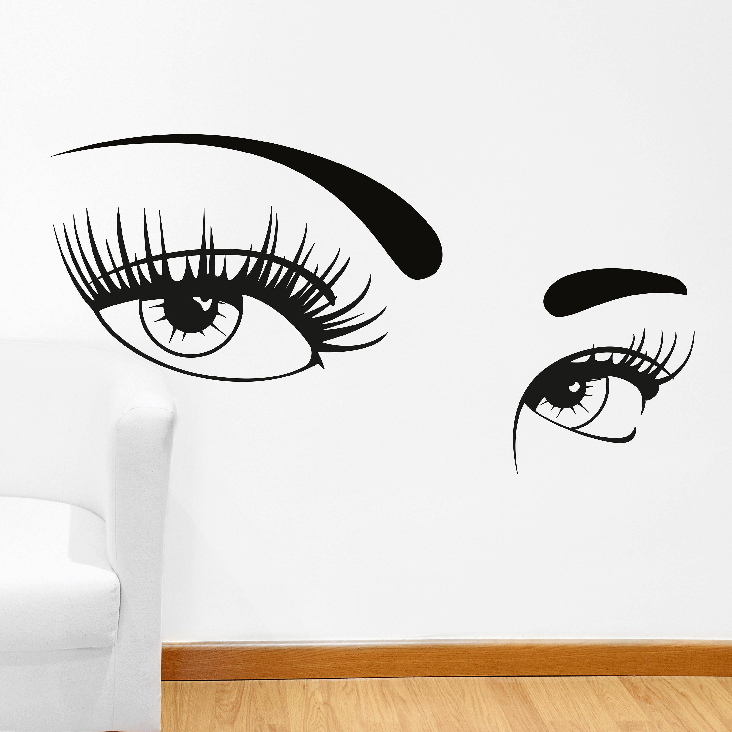 Eyelashes wall decal hot eyes wall decal vinyl stickers sexy zoom amipublicfo Images