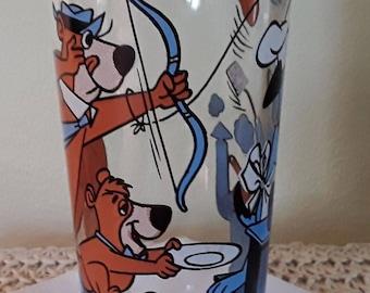 Vintage Huck & Yogi 1977 Pepsi Collector Series Glass Hanna Barbera