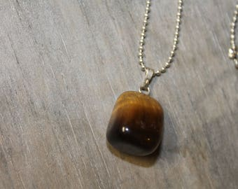 Tiger's eye - stone necklace