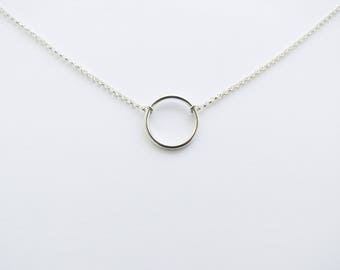Karma Necklace, Circle Necklace, Eternity Necklace, Dainty Necklace, Layering Necklace, Minimalist Jewelry, Gift for Wife, Gift for Her