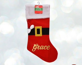 Personalized Stocking Christmas Custom Name