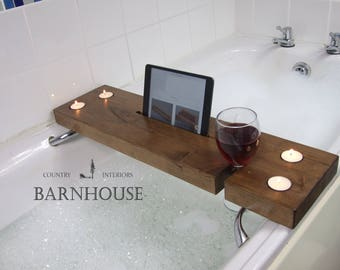 FREE UK DELIVERY!!! Bath Tray,iPad Holder,iPad Stand, Tablet Stand, Bath Caddy, Birthday Gift, Wine Holder ,Cup, Samsung, Kindle, Christmas
