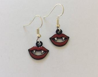Halloween vampire teeth earrings / vampire jewellery / Halloween earrings / Halloween jewellery / Halloween gift