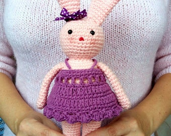 Bunny Knitted Crochet toy Amigurumi Knitted toy Baby toys