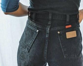 Vintage Black Denim Jeans / Wrangler