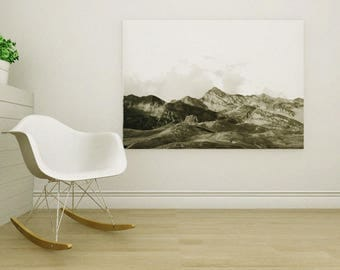 Printable photo - Landscape - Mountain - Black and white