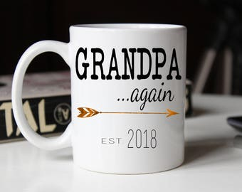 Grandpa AGAIN Mug, New Grandpa mug, Gift for new grandpa, Grandparents gift, Grandpa AGAIN Coffee Mug, Pregnancy Reveal, Gift for dad