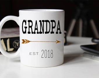 New Grandpa mug, Grandpa Mug, Gift for new Grandpa, Grandpa Coffee Mug, Pregnancy Reveal to Grandpa, Grandfather, Fathers Day Mug