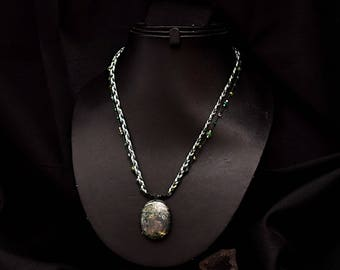 MOSS agate necklace natural Kiabate