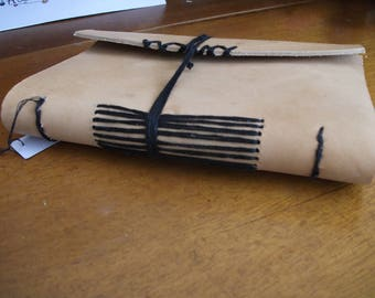 Hand-bound leather journal