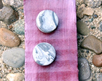 Circle Marbled Studs