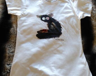 Women's T-shirt with lemur