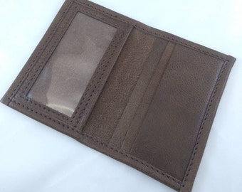 Leather ID Cardholder Brown