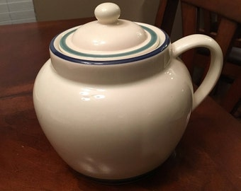 Pfaltzgraff Northwinds Bean Pot with Lid - Item 75167 Pattern Code  PFANORT - Canister with Handle