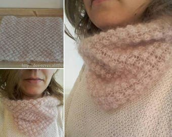 Scarf - Snood - round neck - Pure sweetness