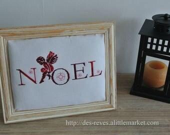 Frame - embroidery - Christmas - Angel