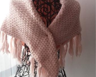 Scarf/shawl with fringe - shawl