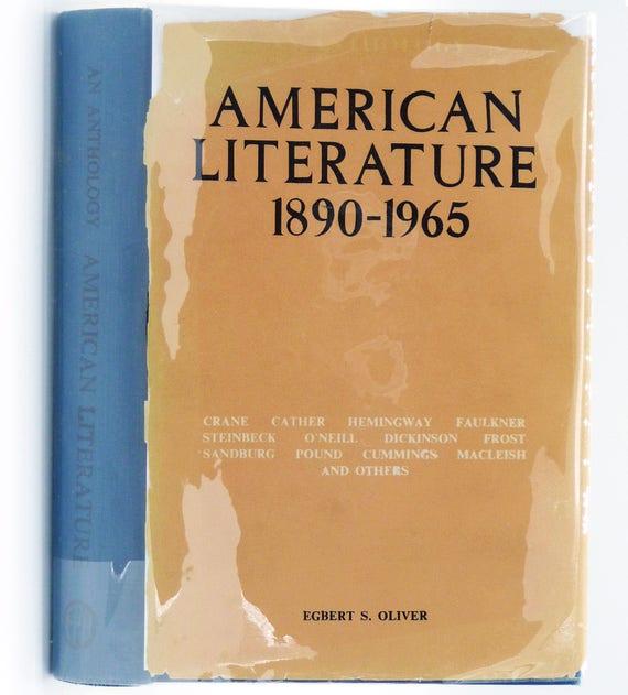 American Literature 1890-1965: An Anthology by Egbert Oliver (ed) Signed Hardcover HC w/ Dust Jacket DJ - Eurasia Publishing House