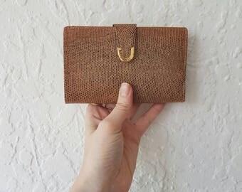 Gorgeous Vintage Wallet • Vintage Wallet • Vintage snakeskin wallet • Leather wallet  •