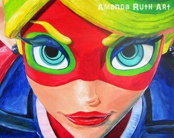 Ribbon Girl - ARMS - painting print