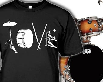Drummer Tee - Drums shirt for Fans - Drummer Gift - Drums Hoodie - Sizes up to 5XL!