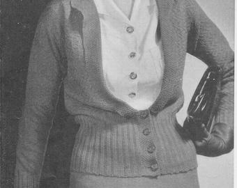 1934 Ladies Two Piece Suit