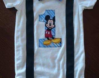 Mickey Mouse 1st Birthday/Cake Smash Onesie