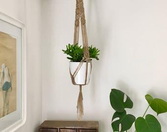 Macrame Jute Plant Hanger