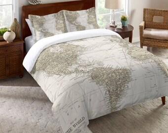Adult Weighted Blanket World Map Queen Comforter Bedspread