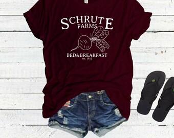 Schrute Farms Tshirt Tee Top Shirt, The Office Tshirt, Dwight Schrute, Sweater, Bears Beets Battlestar Galactica, Michael Scott, Jim Halpert