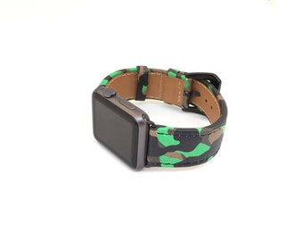 Apple Watch Band Military Leather Watch Band iwatch mens Strap Handcrafted