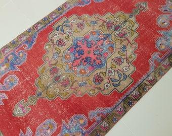 4.5x7.5 Pale Colors Turkish Rug,Vintage Turkish Oushak RUG,Turkish Carpet,Low Pile Rug,Wool Rug,Nomadic Rug,oushak rug