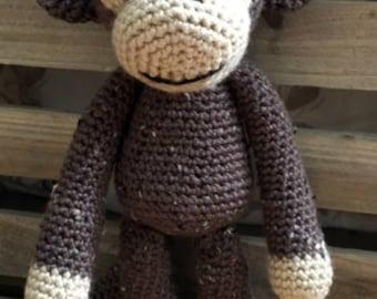 Amigurumi Crochet Stuffed Monkey Handmade Toy