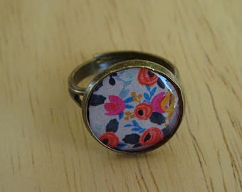 RING adjustable flower motifs