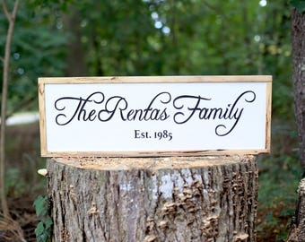 Family Established Rustic Sign | Family Name Sign | Custom Wood Sign | Established Date Sign | Rustic Wall Decor | Anniversary sign |