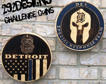 Challenge Coin - Custom made wood challenge coin replicas