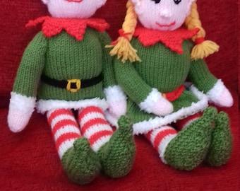 Handknitted Christmas Elves